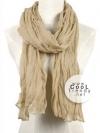 ผ้าพันคอแฟชั่น Cotton Candy : สี camel size 85 x 180 cm