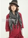 ผ้าพันคอชีมัค Shemash : สีเทาดำ size 100 x 100 cm