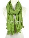 ผ้าพันคอแฟชั่น Cotton Candy : สี Apple Green