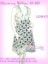 [อก38-42] สไตล์แบรนด์ KLOSET เชียร์สวยค่ะสาวอวบห้ามพลาด! LDB476: KlosetStyle Dress แซคผ้าชีฟอง ดีไซน์เก๋ เดรสแขนกุดมีปก ลายผ้าสวยทรงสวย ใส่ออกงานได้