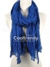 ผ้าพันคอแฟชั่น Cotton Candy : สี Royal Blue