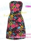 FZS0447 ColoRFuL~NigHt ใหม่! แซค ลายผ้าสั่งพิมพ์ เป็นของส่งนอกนะคะ ลายดอกสดใสพื้นสีดำ