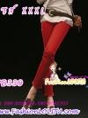 #ใหม่#SKINNYฮิตฮอตแฟชั่นเกาหลีเก๋สุดๆ PB339 ClassicSkinny กางเกงสกินนี่ Skinny ผ้ายืดเนื้อหนา ผ้านิ่ม รุ่นนี้ทรงสวยใส่สบาย สีแดง ไซส์XXXL