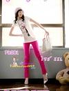 #SKINNYฮิตฮอตแฟชั่นเกาหลีเก๋สุดๆPB201 ClassicSkinny กางเกงสกินนี่ Skinny ผ้ายืดเนื้อหนา ผ้านิ่ม รุ่นนี้ทรงสวยใส่สบาย ไม่มีไม่ได้แล้ว สีชมพู XXL