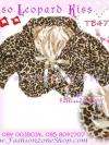 สไตล์สาวเกาหลี ลุคใสๆTB477 : Fur Cardigan Blink Korean: ใหม่! เสื้อคลุมตัวสั้นเฟอร์ลายเสือลุคสาวเกาหลีน่าหยิก ผูกโบซาติน ด้านในบุอย่างดีด้วยซาติน