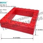 US-6001 ตัวต่อขนาดใหญ่ Macrobrik Snow ball pool size:S 1x2 (48 pcs.) สีแดง พร้อมลูกบอล200ลูก