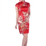 Size S / M / L/ XL / XXL (Best Seller) พร้อมส่งชุดกี่เพ้าสีแดงลายดอกไม้สวยมากค่ะ ระบุไซส์ด้วยค่ะ