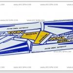 สติ๊กเกอร์ NOVA-RS ปี 90 ติดรถสีน้ำเงิน