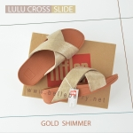 * NEW * FitFlop : Lulu Cross Slide : Gold : Size US 8 / EU 39