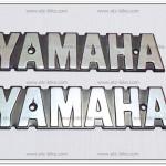 โลโก้ YAMAHA สีเงิน 15cm.x3cm. (2ชิ้น/ชุด)