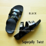 **พร้อมส่ง** FitFlop SUPERJELLY TWIST : Black : Size US 6 / EU 37