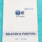 ►We Brain◄ MA 3028 หนังสือกวดวิชา คณิตศาสตร์ ม.4 ความสัมพันธ์ และฟังก์ชั่น มีสรุปเนื้อหา สูตรสำคัญ ก่อนตะลุยทำโจทย์แบบฝึกหัด มีข้อควรรู้ ข้อควรระวัง เทคนิคลัดเยอะมาก จดครึ่งเล่ม จดละเอียด โจทย์ Assignment มีเฉลยละเอียดและวิธีทำละเอียด