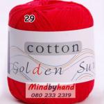 ไหมพรม Cotton 100% รหัสสี 29 Red