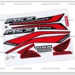 สติ๊กเกอร์ MSX ปี 2015 รุ่น 2 ติดรถสีแดง
