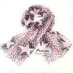 ผ้าพันคอแฟชั่นลายดาว Star : สีชมพู CK0273