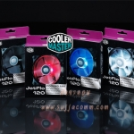 "FAN for Case 12cm. (Black) ""Cooler Master"" LED ( JetFlo )"