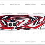 สติ๊กเกอร์ M-SLAZ ปี 2016 รุ่น 1 ติดรถสีแดง (โลโก้นูน)
