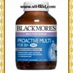 Blackmores ProActive MULTI for 50plus วิตามินรวมวัยทอง 50ปีขึ้นไป พร้อม Q10+Lutein 100เม็ด (หมด)