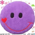 เบาะรองนั่งแฟนซี-พระจันทร์ยิ้ม-สีม่วง
