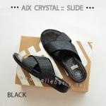 * NEW * FitFlop AIX Crystal Slide : Black : Size US 6 / EU 37