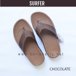 * NEW * FitFlop Men's : SURFER : Chocolate Brown : Size US 10 / EU 43