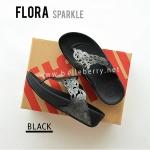 **พร้อมส่ง** รองเท้า FitFlop FLORA Sparkle : Black : Size US 6 / EU 37