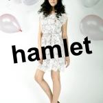 """""""พร้อมส่ง""""เสื้อผ้าแฟชั่นสไตล์วินเทจราคาถูก Hamlet แซกลูกไม้ปลายหยัก (แถมเชือก) - สีครีม"""