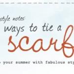 6 วิธีผูกผ้าพันคอขั้นพื้นฐาน