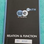 ►We Brain◄ MA FR15 หนังสือกวดวิชา คณิตศาสตร์ ม.4 ความสัมพันธ์และฟังก์ชั่น มีสรุปเนื้อหา สูตรสำคัญ ก่อนตะลุยทำโจทย์แบบฝึกหัด มีข้อควรรู้ ข้อควรระวัง เทคนิคลัดเยอะมาก จดเล็กน้อย
