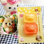 พิมพ์ไข่ต้ม ข้าวปั้น หน้าหมีคุมะ Rilakkuma แพ็ค 2 ชิ้น สามารถทำเป็นพิมพ์กดข้าว หรือ พิมพ์กดไข่ต้มก็ได้