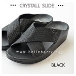 FitFlop CRYSTALL Slide : Black : Size US 7 / EU 38