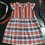 ชุดกระโปรงเด็กลายผ้าขาวม้าไซส์ M