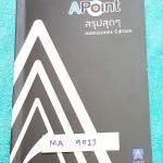 ►พี่แท๊ปเอเลเวล◄ MA 9013 สรุปสุดๆ A Point Admissions Edition พี่แท็ป เอเลเวล สรุปเนื้อหาสำคัญเพื่อเตรียมสอบเอ็นทรานซ์ สอบแอดมิชชั่น สอบแพทวิชาคณิต ม.ปลาย พิมพ์สีทุกหน้า มีเทคนิคลัดเยอะมาก Math Admission Vol.1 1.เซต 2.ตรรกศาสตร์ 3.ระบบจำนวนจริง 4.ทฤษฎีจำนว