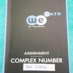 ►วีเบรน◄ MA 2702 คณิตศาสตร์ ม.5 Assignment จำนวนเชิงซ้อน เล่มตะลุยโจทย์ มีจดละเอียดเล็กน้อย มีเฉลยละเอียดของอาจารย์ครบทุกข้อ แสดงวิธีทำอย่างละเอียด หนังสือจดโดยน้องที่ติดมหาวิทยาลัยธรรมศาสตร์