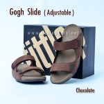 **พร้อมส่ง** FitFlop Gogh Slide ( Adjustable ) : Chocolate : Size US 10 / EU 43