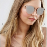 Pieces Milli Rose Gold Mirror Cat Eye Sunglasses