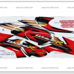 สติ๊กเกอร์ WAVE125-R ปี 2004 รุ่น 6 ติดรถสีแดง