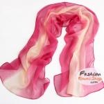 ผ้าพันคอแฟชั่นลายคลาสสิค Classic : สีชมพูอ่อน CK0021