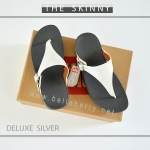 FitFlop The Skinny Deluxe : Silver : Size US 6 / EU 37