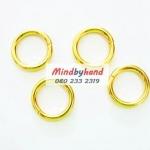 ห่วงเหล็กวงกลมสีทอง ขนาด 2.5 cm.