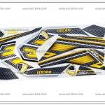 สติ๊กเกอร์ MSX-DUCATI ปี 2015 รุ่น 2 ติดรถสีเหลือง