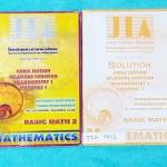 ►อ.เจี๋ย◄ JIA FR02 เซ็ท Basic Math 2 หนังสือเรียน+หนังสือเล่มเฉลย ในหนังสือเรียนมีสรุปสูตร+เนื้อหา โจทย์แบบฝึกหัด มีเทคนิคลัดของอาจารย์เยอะมาก มีเทคนิคแปลกๆที่ควรรู้จักไว้สอบแข่งขัน จดครบเกือบทั้งเล่ม จดละเอียด จดเป็นระเบียบ มีจดจุดที่ควรจำ และสูตรลัดเพิ่