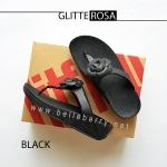 * NEW * FitFlop GLITTEROSA : Black : Size US 8 / EU 39