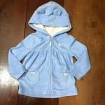 "size 18m ""พร้อมส่ง""Brand Carter เสื้อกันหนาวสีฟ้า มีหู-size 18m"