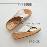 * NEW * FitFlop : KYS Slide : Bronze : Size US 8 / EU 39