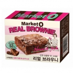 พร้อมส่ง / Market O Real Brownie บราวนี่ผสมเกล็ดช็อคโกแลต อร่อยหอมนุ่ม เนื้อไม่แห้ง เป็นที่นิยมมากในเกาหลีค่ะ
