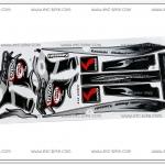 สติ๊กเกอร์ KSR-KITACO ติดรถสีดำ