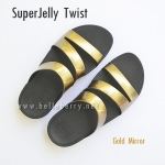 **พร้อมส่ง** FitFlop SUPERJELLY TWIST : Gold Mirror : Size US 7 / EU 38