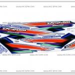 สติ๊กเกอร์ DREAM-EXCES ปี 2002 ติดรถสีน้ำเงิน