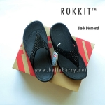 * NEW * FitFlop : ROKKIT : Black Diamond : Size US 6 / EU 37